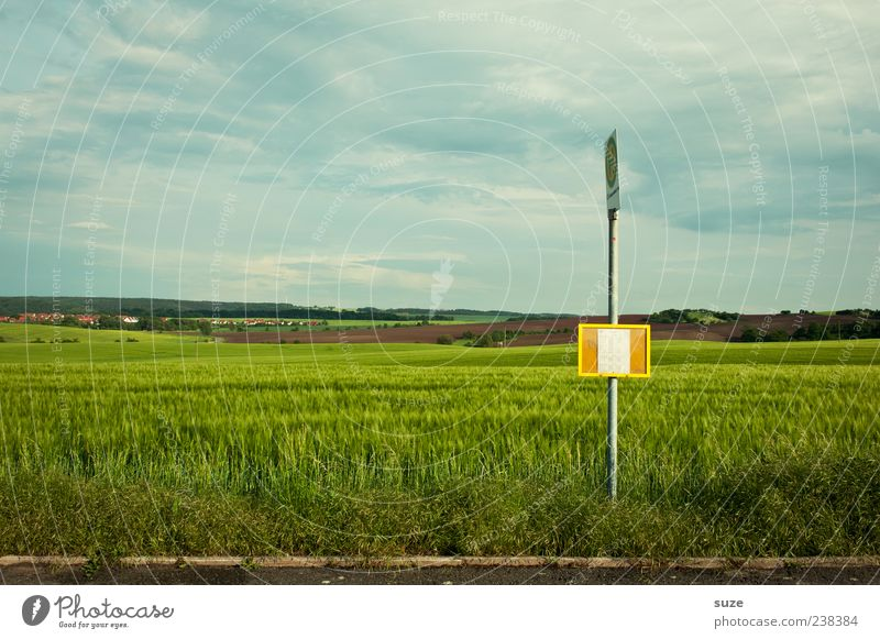 Sky Nature Loneliness Environment Landscape Street Meadow Weather Field Climate Wait Signs and labeling Transport Authentic Beautiful weather
