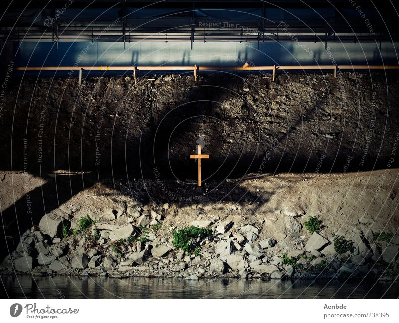 Water Death Dark Emotions Wood Stone Sadness Moody Dirty Exceptional Esthetic Bridge Gloomy Grief Belief Crucifix
