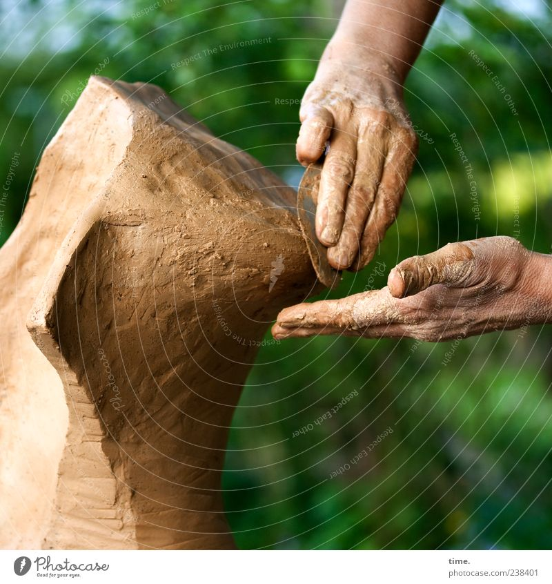 Human being Green Hand Tree Art Brown Work and employment Action Beginning Fingers Esthetic Creativity Concentrate Make Material Damp