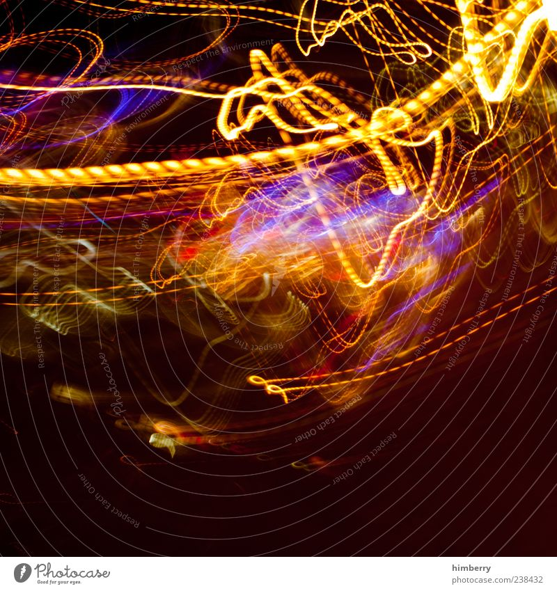 Yellow Movement Style Wild Design Crazy Chaos Muddled Night Abstract High-tech Tracer path