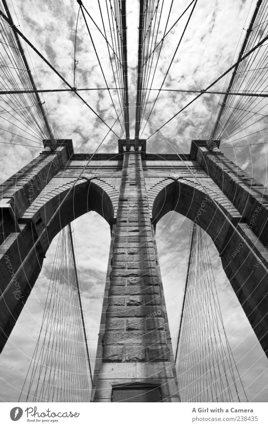 take me to Brooklyn Vacation & Travel Sky New York City USA Bridge Manmade structures Architecture Wall (barrier) Wall (building) Tourist Attraction Landmark