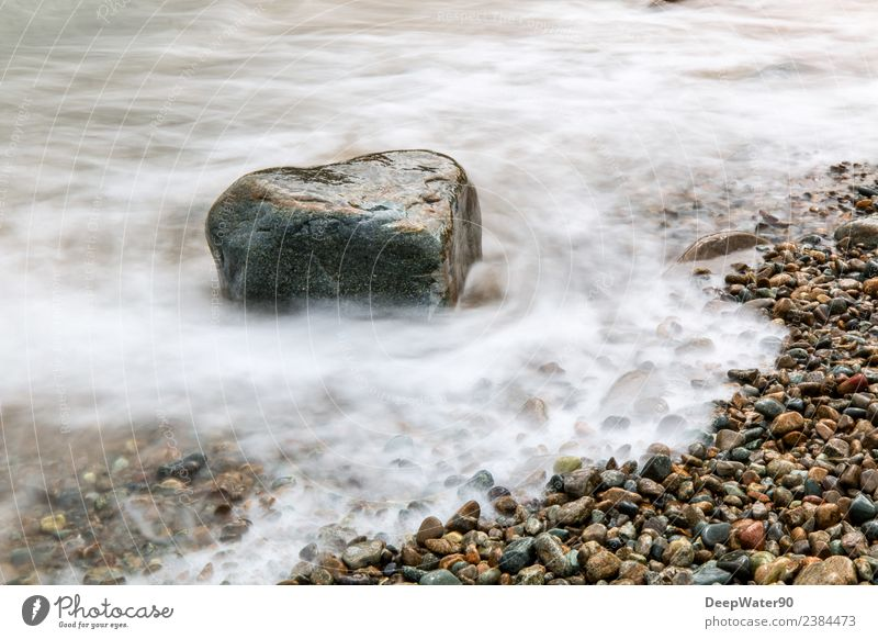 Heart of stone Nature Elements Air Water Summer Beautiful weather Waves Coast Beach Bay Ocean Stone Sand Esthetic Fluid Joie de vivre (Vitality) Love Unwavering