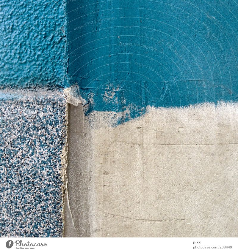 Blue Summer Wall (building) Dye Work and employment Background picture Facade Crucifix Division Square Turquoise Craft (trade) Plaster Vertical Build Smoothness