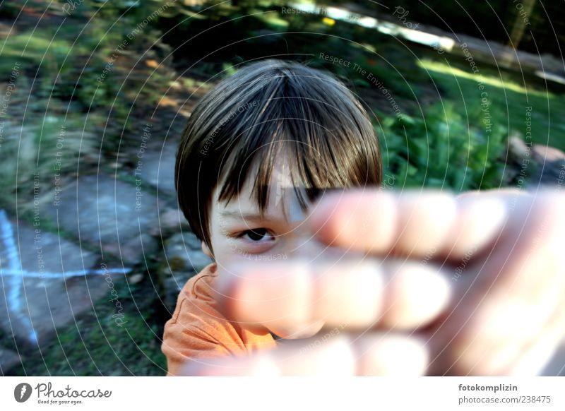 Child Hand Eyes Emotions Boy (child) Garden Infancy Happiness Uniqueness Stop Catch Brave Watchfulness Brunette Brash Bans