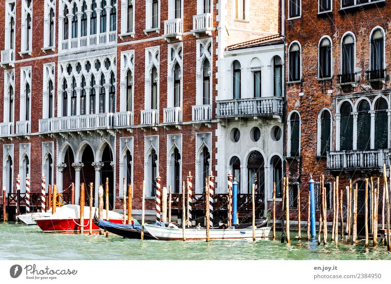 my house, my boat... Vacation & Travel Tourism Trip Sightseeing City trip Summer Summer vacation Water Channel Waterway Venice Italy Town Old town