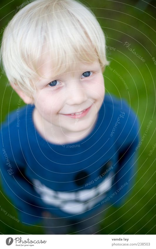 Human being Child Youth (Young adults) Blue Boy (child) Small Head Blonde Infancy Happiness Smiling Cute Future Cool (slang) Sweater 3 - 8 years