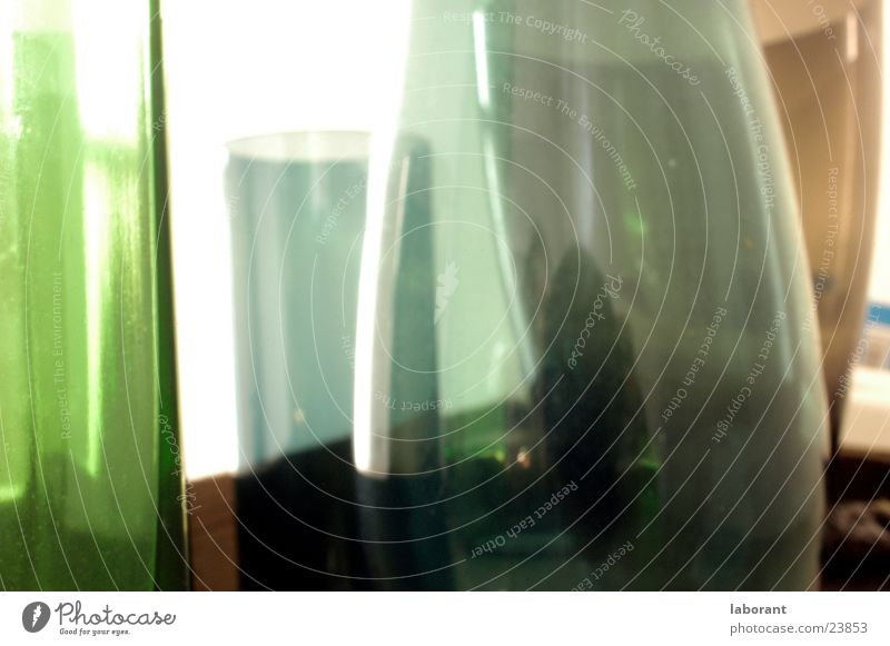 glass vases2 Vase Murano Containers and vessels Green Light Blur Living or residing Glass Transparent translucent porous