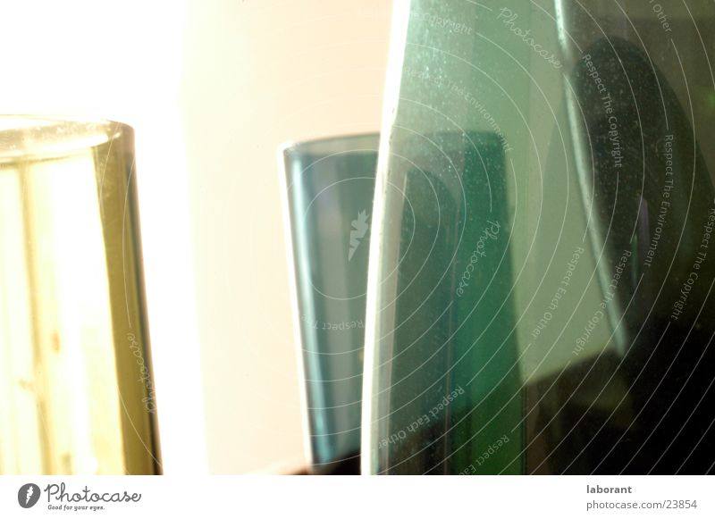 glass vases Vase Murano Containers and vessels Green Light Blur Living or residing Glass Transparent translucent porous