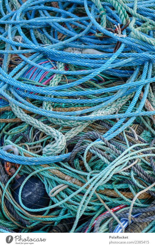 #S# linen salad Navigation Chaos Harbour Rope Knot Dry Craft (trade) Fishing (Angle) Fishery Baltic Sea Baltic island Many Difference Utilize Blue Watercraft