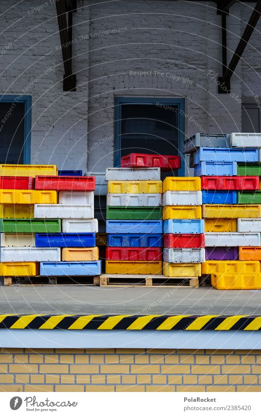 #S# Box Parade Work and employment Multicoloured Many Crate Arrange Logistics Storage Harbour Depot Warehouse Arrangement Chaos Tidy up Think System Drainage
