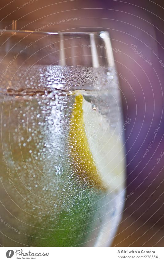 Summer Nutrition Cold Food Healthy Glass Drinking water Beverage Refreshment Delicious Fruit Freeze Lemon Full Sparkling wine