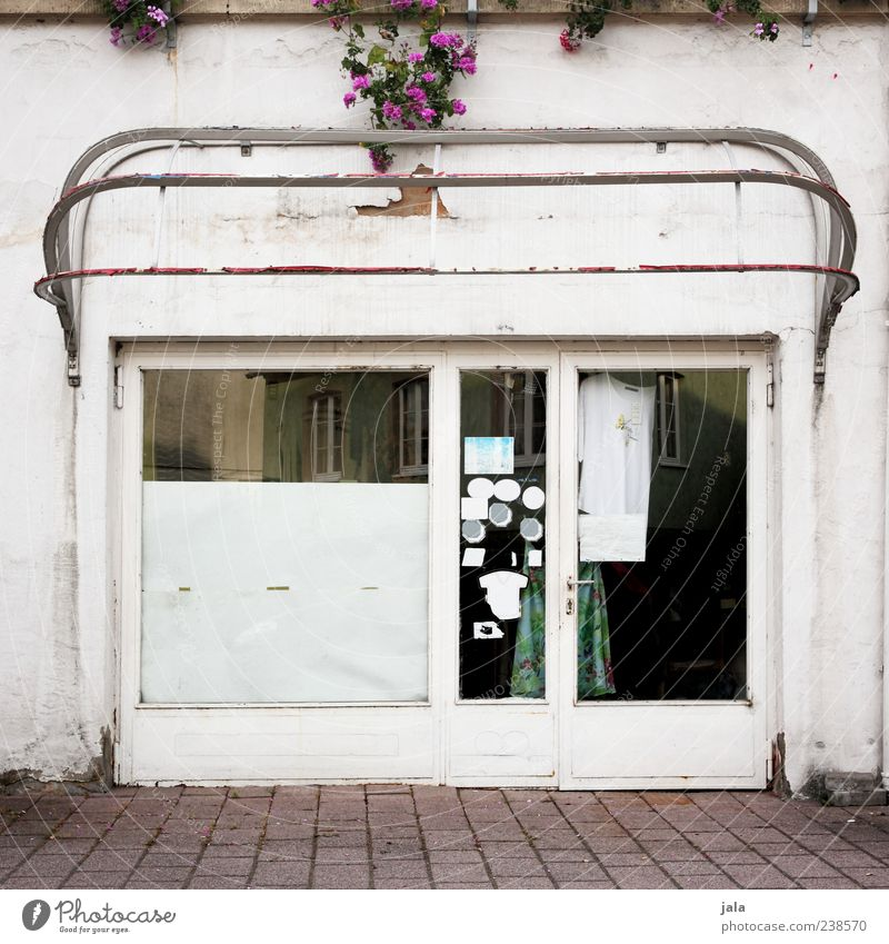 Old House (Residential Structure) Window Building Door Facade Gloomy Retro Manmade structures Store premises Shop window Pedestrian precinct Tumbledown