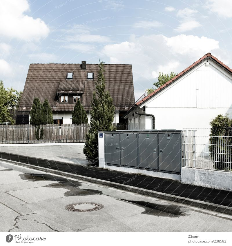Sky Clouds House (Residential Structure) Architecture Building Germany Flat (apartment) Natural Authentic Living or residing Gloomy Retro Transience