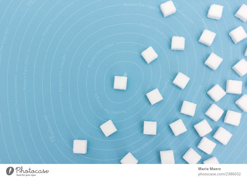 Sugar everywhere.... Food Nutrition Eating Drinking Original Sweet Blue White Vice Disciplined Appetite Thirst To enjoy Addiction Lump sugar Background picture