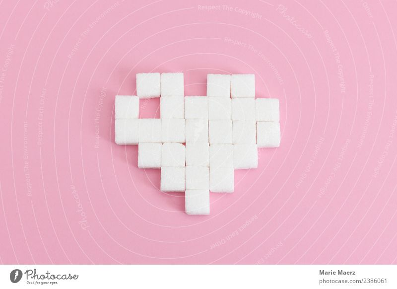 Heart of sugar Food Candy Sugar Diet Eating Love Happy Positive Beautiful Sweet Pink White Spring fever Anticipation Relationship To enjoy Pure Pixel 8bit
