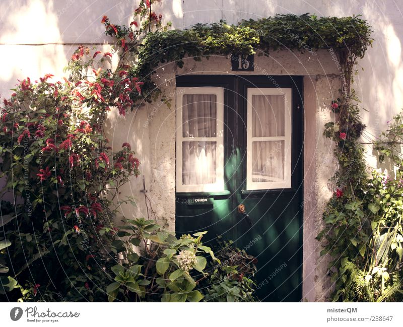 13. Esthetic Idyll Garden Lisbon Portugal Door Entrance Gate Window Visual spectacle Wall (building) Timeless Colour photo Subdued colour Exterior shot Detail