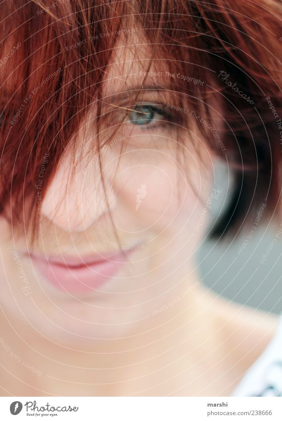 redhead Human being Feminine Young woman Youth (Young adults) Woman Adults Head Hair and hairstyles Face Eyes Happy Red-haired Looking Portrait photograph