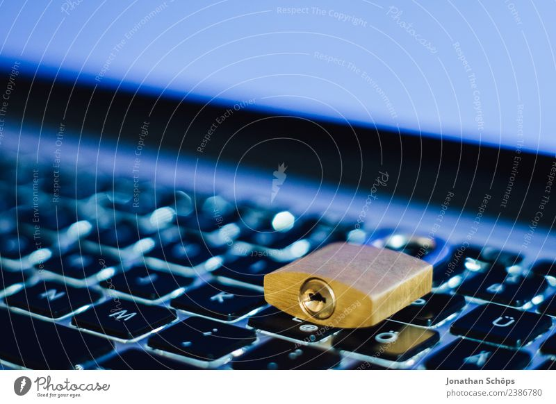 Blue Copy Space Gold Europe Safety Symbols and metaphors Keyboard Notebook Laws and Regulations Lock Silver Wooden table Data storage May Password