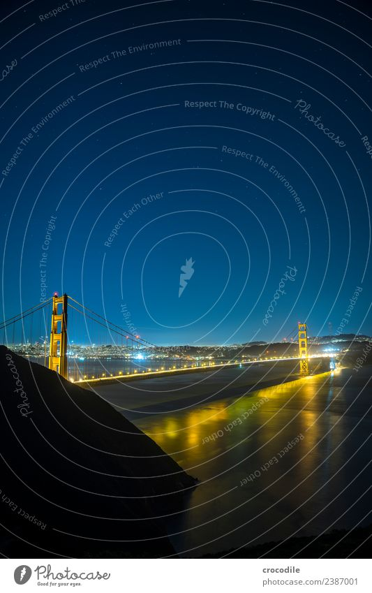 # 747 Golden Gate Bridge San Francisco City Night Long exposure Stars Ocean Highway One Landmark California Bay Skyline Battery Spencer Panorama (View)