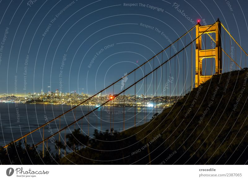# 746 Golden Gate Bridge San Francisco City Night Long exposure Stars Ocean Highway One Landmark California Bay Skyline Battery Spencer