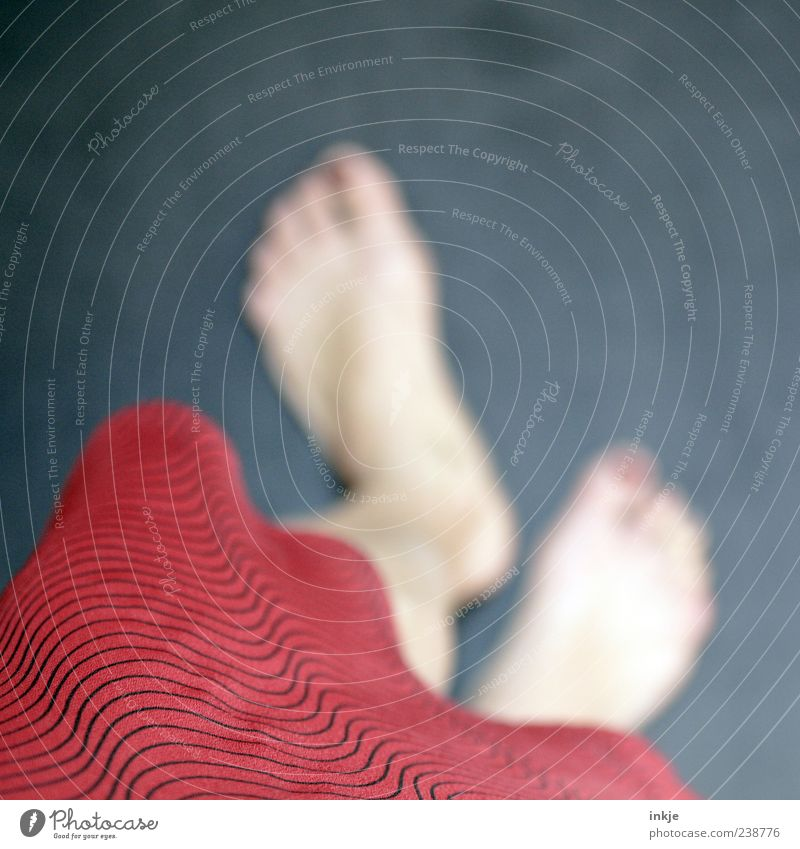 Blue Beautiful Red Feminine Emotions Movement Feet Moody Going Exceptional Wait Walking Stand Skirt Barefoot Close-up