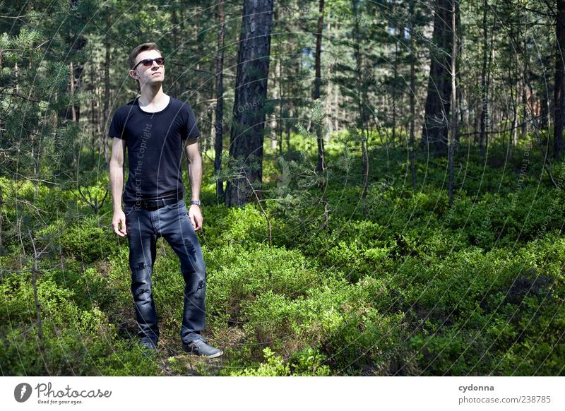 Human being Nature Youth (Young adults) Calm Adults Forest Relaxation Environment Landscape Life Freedom Style Trip 18 - 30 years Stand Young man
