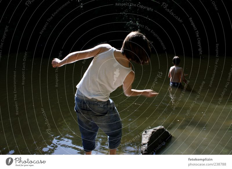 wish times Boy (child) Infancy Youth (Young adults) Back Water Lake Swimming & Bathing Rotate Throw Free Happiness Emotions Moody Joie de vivre (Vitality)