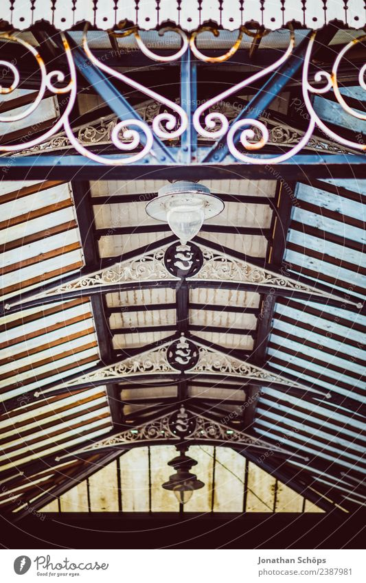vintage glass roof from below Brighton, England Town Building Roof Exceptional Vintage Retro Old Glass Glass roof Background picture Structures and shapes