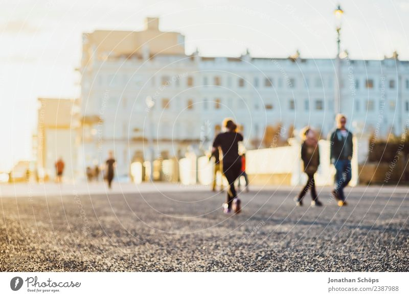 *** 2000 *** Jogger in the evening sun, Brighton, England Human being Group Town Port City Outskirts Esthetic Athletic Joy Happy Contentment Enthusiasm Success
