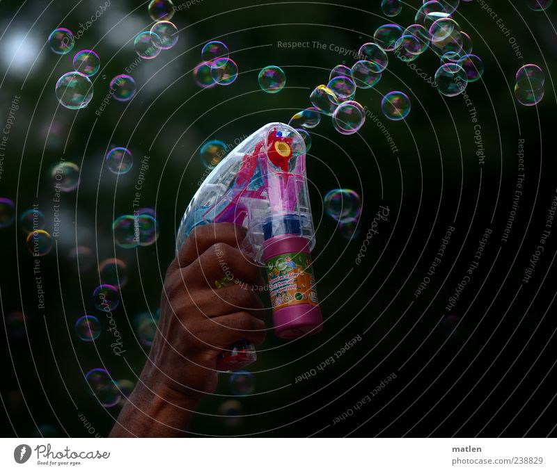Hand White Green Red Leisure and hobbies Many Toys Make Blow Bubble Soap bubble Handgun Reflection Dazzling