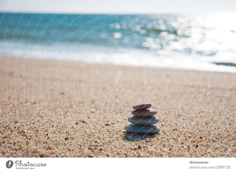 Stones stack on the sand Sky Nature Blue Summer Colour White Ocean Relaxation Beach Black Natural Coast Rock Horizon Arrangement