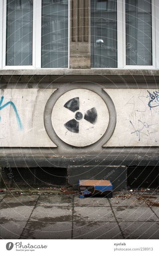 Old House (Residential Structure) Window Wall (building) Graffiti Architecture Stone Wall (barrier) Building Art Facade Dirty Energy Concrete Decoration Gloomy