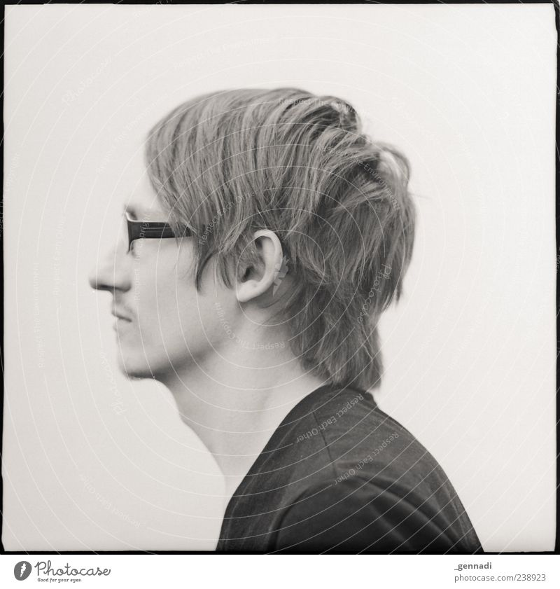 Human being Man Youth (Young adults) Adults Blonde Wait Masculine 18 - 30 years Young man Eyeglasses Person wearing glasses