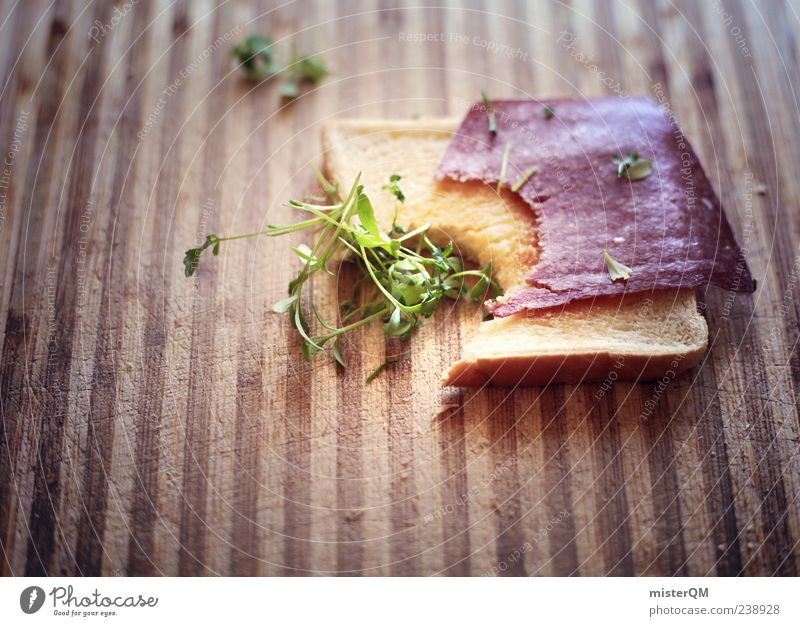 Nutrition Esthetic Simple Bread Appetite Breakfast Delicious Ecological Striped Few Herbs and spices Bite Brunch Pattern Abstract Toast