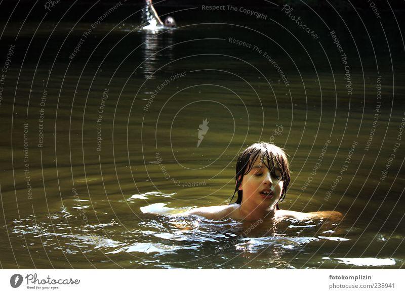 Still Water Lake Swimming & Bathing Relaxation To enjoy Romp Dream Free Happy Wild Moody Joy Happiness Joie de vivre (Vitality) Vacation & Travel Freedom Idyll