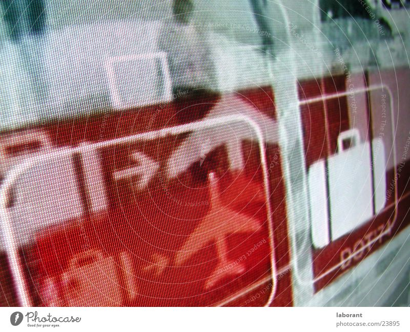 Vacation & Travel Airplane Television Suitcase Pictogram Photographic technology