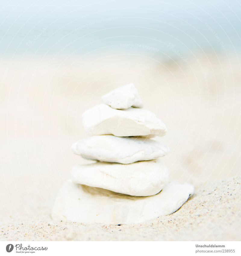 Nature White Beautiful Ocean Summer Beach Calm Coast Small Sand Stone Bright Natural Large Esthetic Decoration