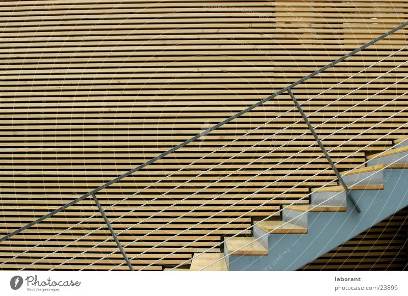Wood Architecture Stairs Modern Steel Landscape format Wire cable
