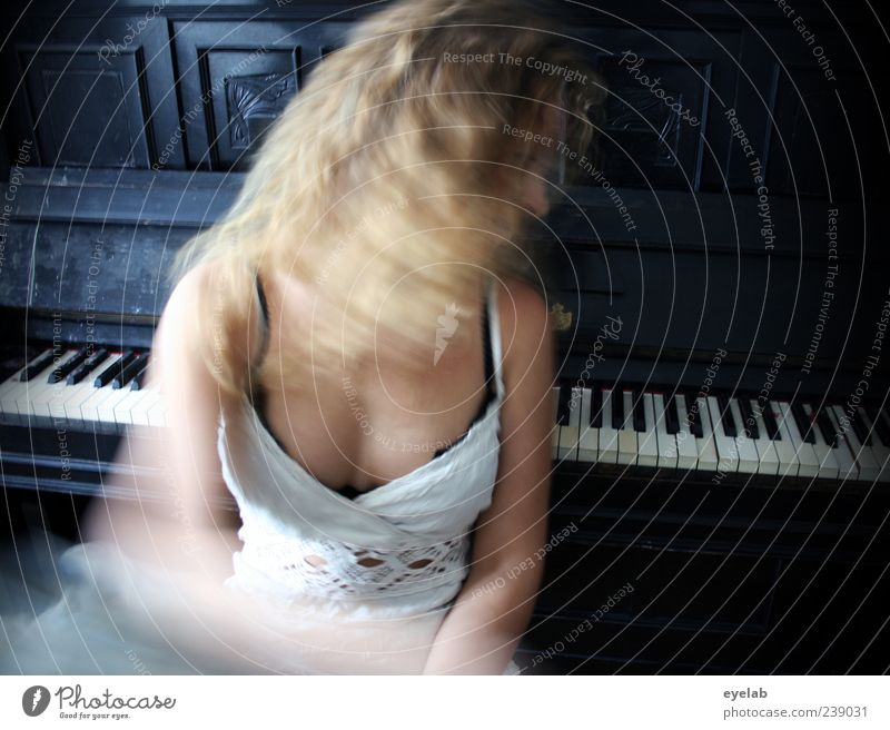 One should be able to play the piano... Beautiful Hair and hairstyles Skin Leisure and hobbies Playing Human being Feminine Young woman Youth (Young adults)