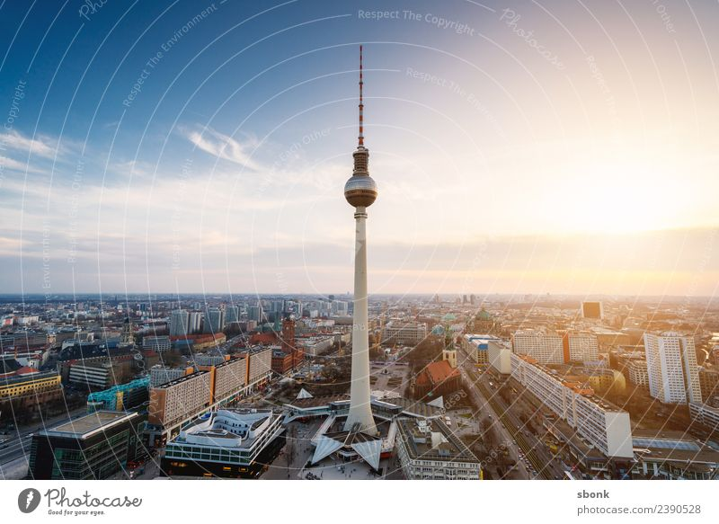 Berlin Television Tower Vacation & Travel Town Capital city Downtown Skyline Building Architecture Germany City Oberbaumbrücke Kreuzberg Friedrichshain urban