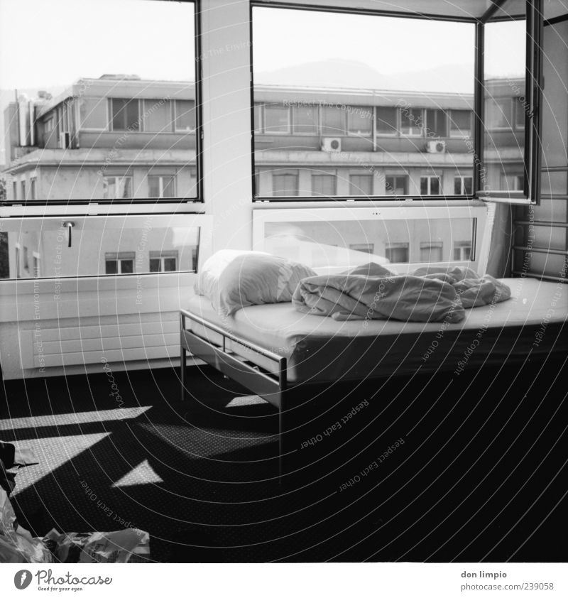 White City Black House (Residential Structure) Calm Window Building Air Interior design Moody Open Flat (apartment) Living or residing Bed Analog Zurich
