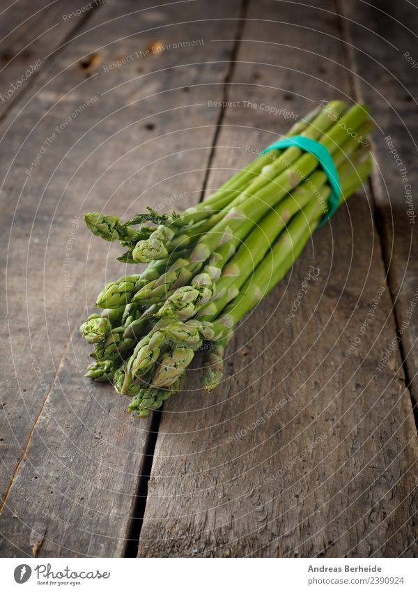 Fresh green organic asparagus Food Vegetable Nutrition Organic produce Vegetarian diet Diet Healthy delicious tasty heap Vitamin antioxidant Rubber Band