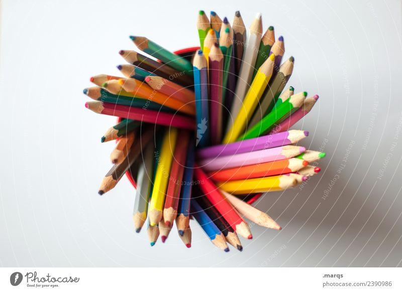 crayons Parenting Education Kindergarten School Crayon Painting (action, artwork) Playing Multicoloured Creativity Arrangement Colour photo Studio shot Close-up