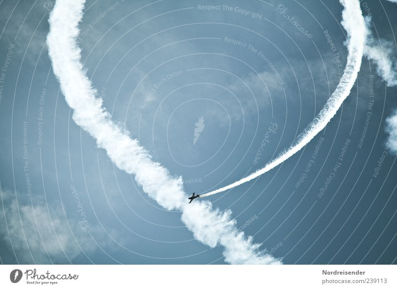 Sky Clouds Flying Exceptional Airplane Aviation Event Smoke Blue sky Movement Aircraft Air show Aerobatics Two-seater Airspace Aerobatic build