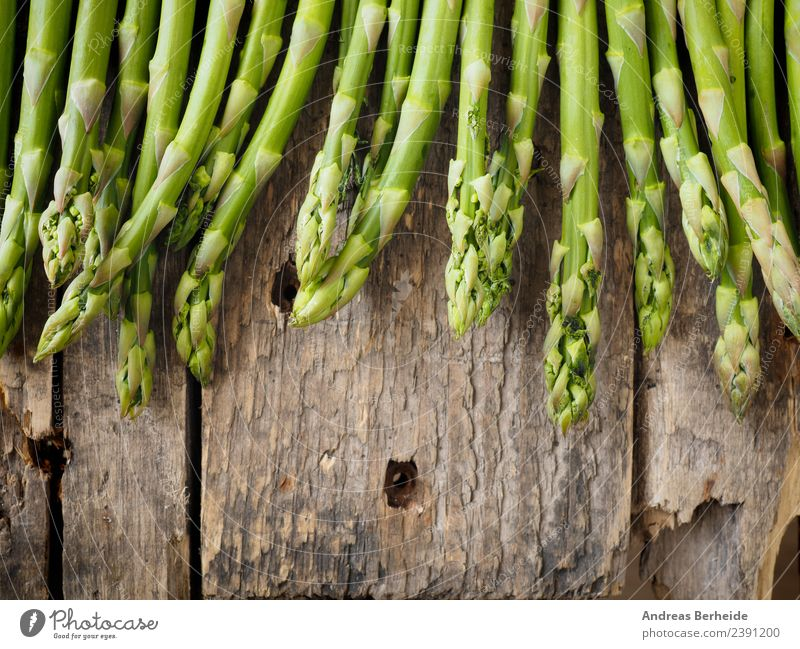 Fresh green organic asparagus Food Vegetable Lunch Organic produce Vegetarian diet Diet Healthy Eating Jump Delicious Green antioxidant Asparagus