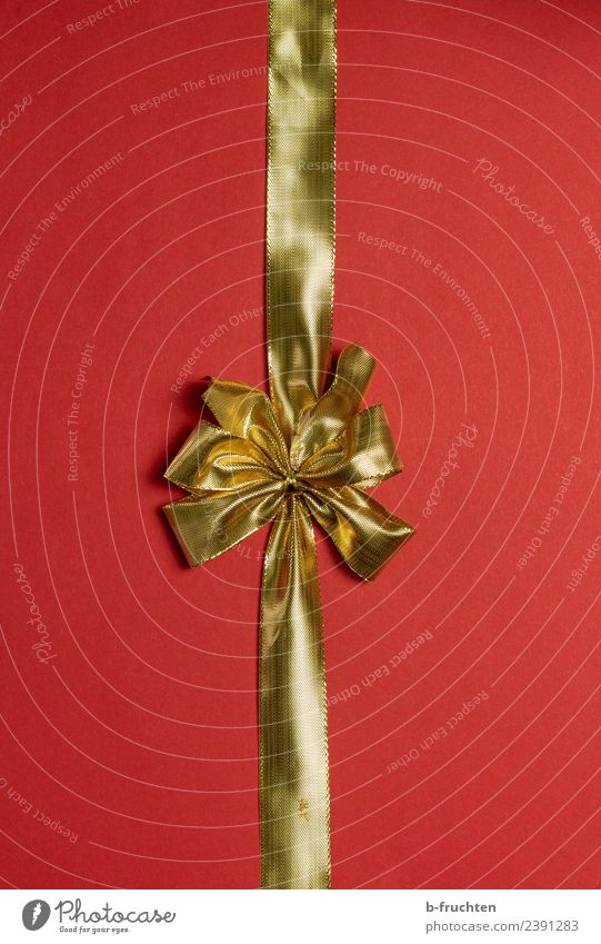 golden ribbon Feasts & Celebrations Christmas & Advent New Year's Eve Wedding Birthday Baptism Paper Packaging Package Decoration Bow Plastic Gold Red