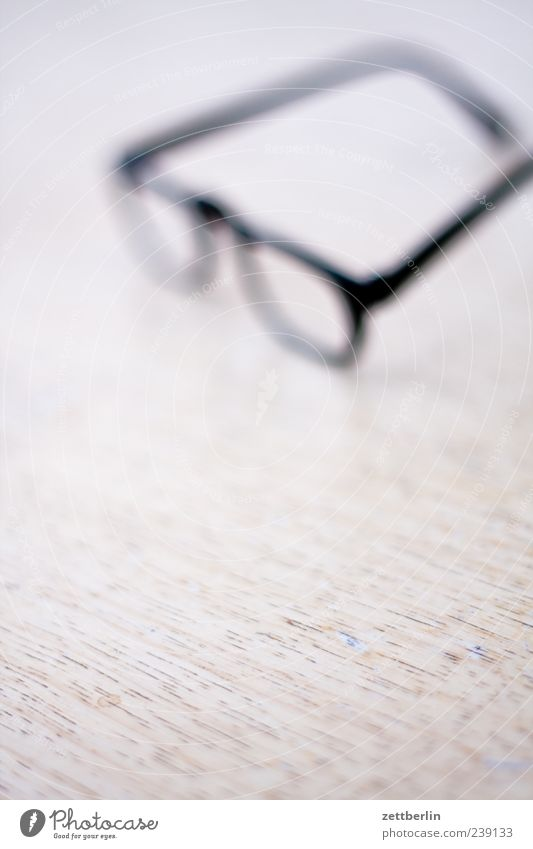 glasses Education Looking Eyeglasses Blur Unclear Vision Table Search Colour photo Subdued colour Interior shot Close-up Detail Macro (Extreme close-up)