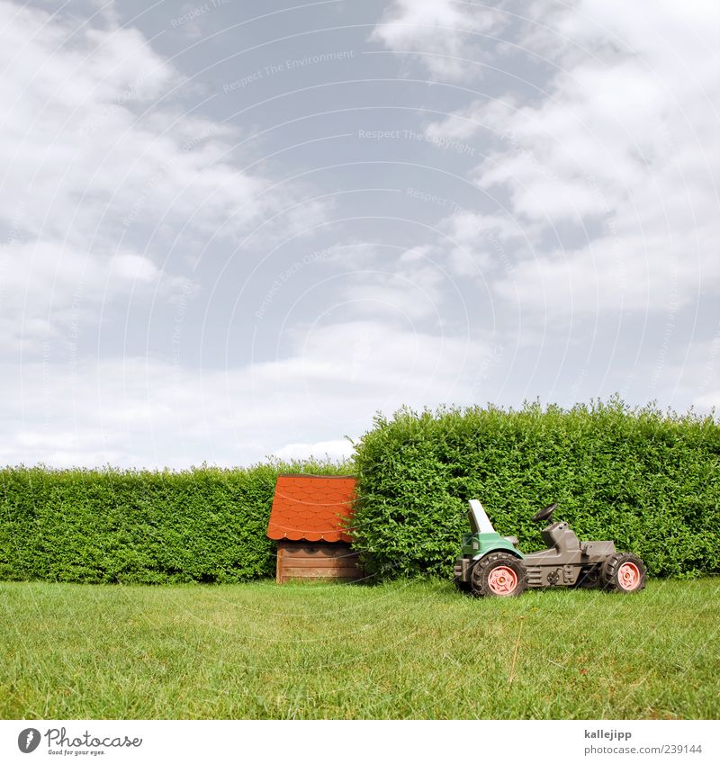 farm Environment Nature Landscape Bushes Sustainability Hut House (Residential Structure) Detached house Garage Tractor Roofing tile Garden Hedge Toy car Sky