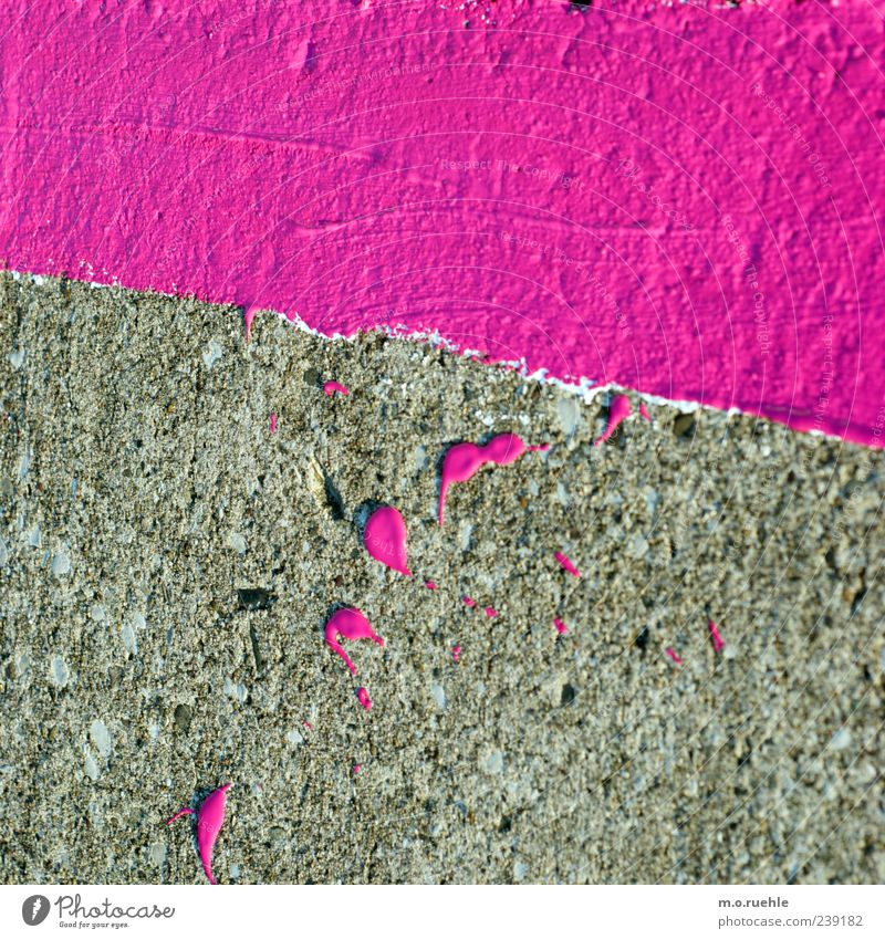 stripes and blobs Violet Pink Dye Patch Daub Line Floor covering Patch of colour Pavement Marker line Colour photo Exterior shot Pattern Structures and shapes