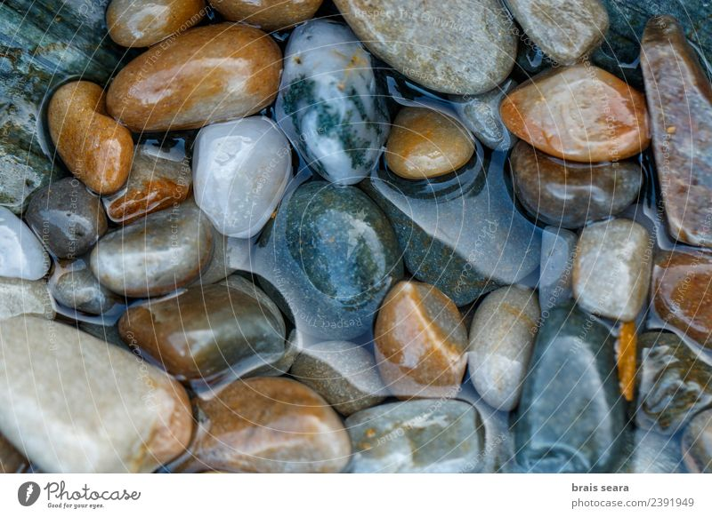 Pebbles background Nature Blue Colour Water Landscape White Ocean Relaxation Calm Beach Environment Natural Coast Stone Brown Copy Space
